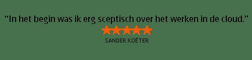 Testimonial Sander Koeter